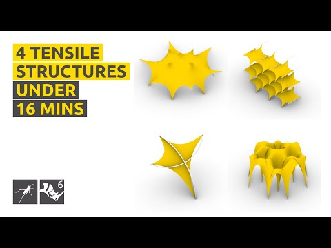 How to make 4 basic tensile structures! - Rhino/GH Tutorial