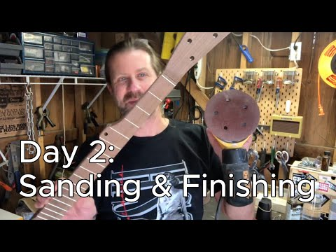 Banjo Build Diary: Day 2 [Sanding & Finishing]