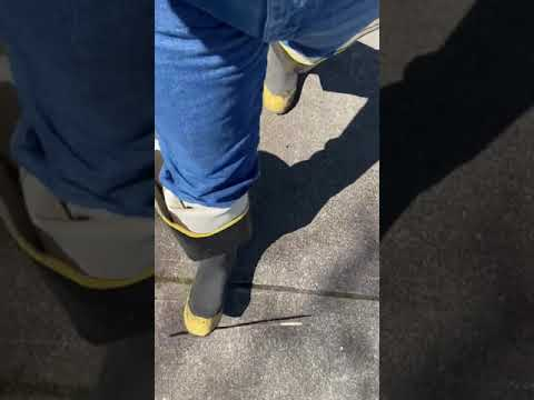 Walking in my LaCrosse Storm steel toe hip boots