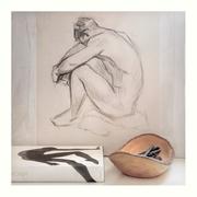 Figure Drawing, Charcoal, 2021