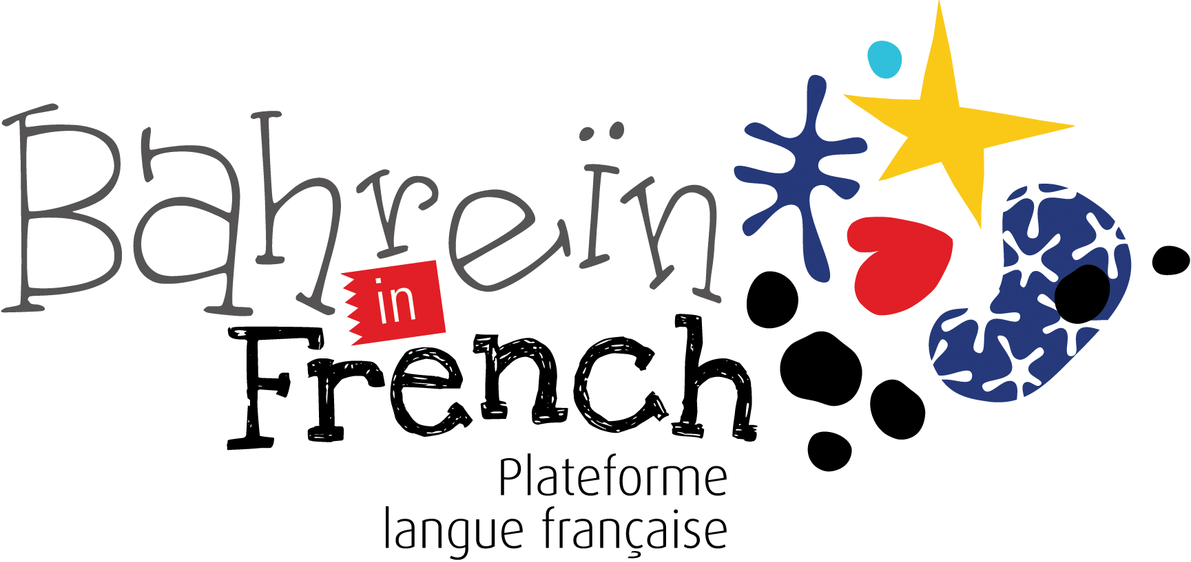 Bahreïn in French Logo