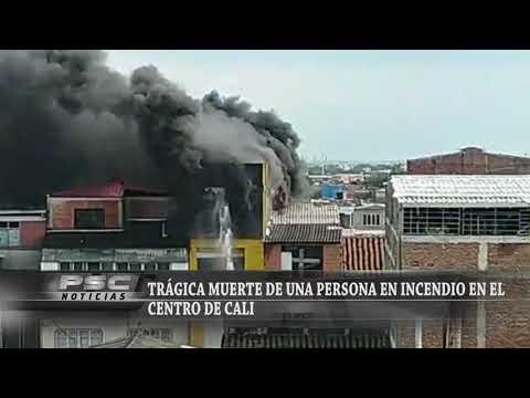 AEO EN INCENDIO ESTRUCTURAL DE CALI, COLOMBIA - MARTES 16 FEBRERO 2021