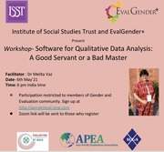 Software for Qualitative Data Analysis: A Good Servant or a Bad Master