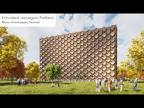 Extruded Hexagon Pattern Rhino Grasshopper Tutorial