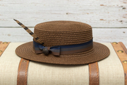 Brown Paper Straw Hat for Kids