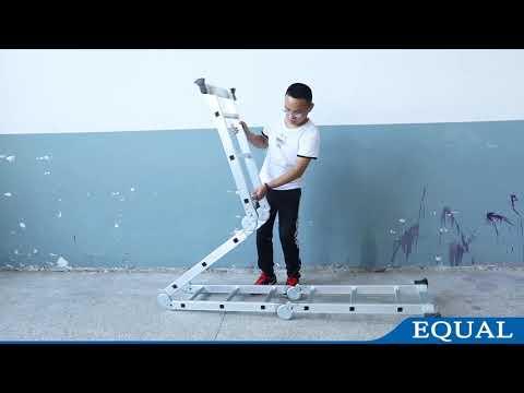 How to Use EQUAL Aluminium Multipurpose Ladder | User Guide