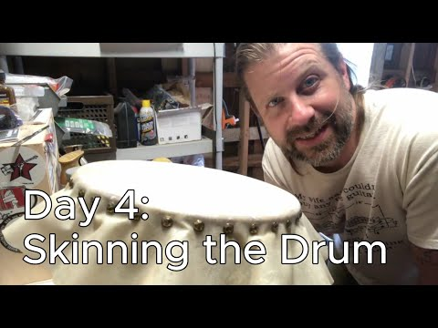 Banjo Build Diary: Day 4 [Skinning the Drum]