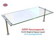 ES53 Model of Sneeze Guard   ADM Sneezeguards - Glass Guard