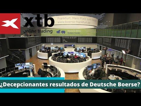 ¿Decepcionantes resultados de Deutsche Boerse?