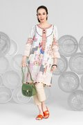 Beige Galaxy - 2PC Unstitched Embroidered Lawn Suit - BuyZilla.pk