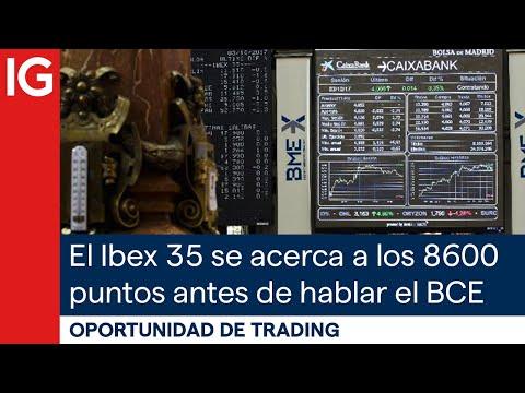 El IBEX35 se acerca a los 8600 puntos antes del comunicado del BCE | Oportunidad de trading
