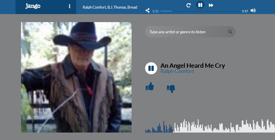 Screenshot_2021-04-08 Ralph Comfort An Angel Heard Me Cry - Jango