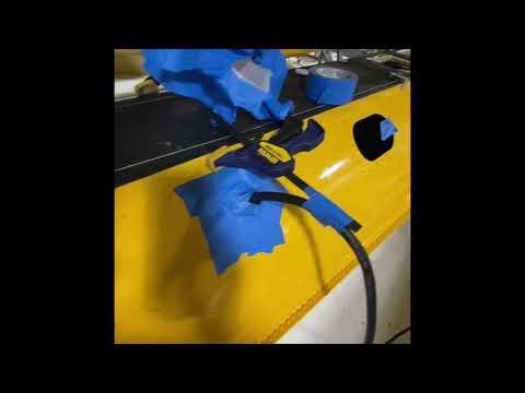 Smoke leak test for zenith 2500A amphib floats