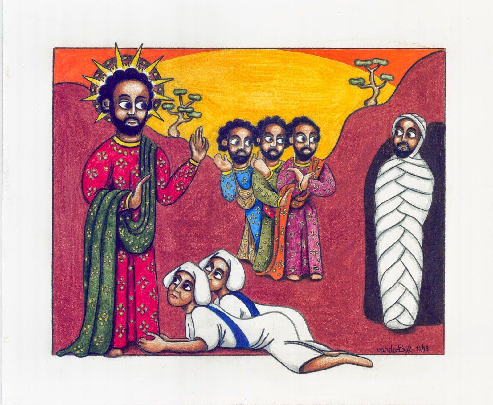 აღდგომა, ლაზარე, ეთიოპია, ეთიოპიური ხატწერა, მხატვრობა