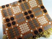 Welsh Loom & Bobbin weave large bed cover woolen
