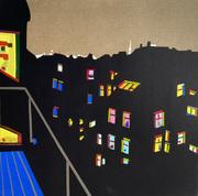 Corona Nights No 2_30 x 30 cm_Papercut