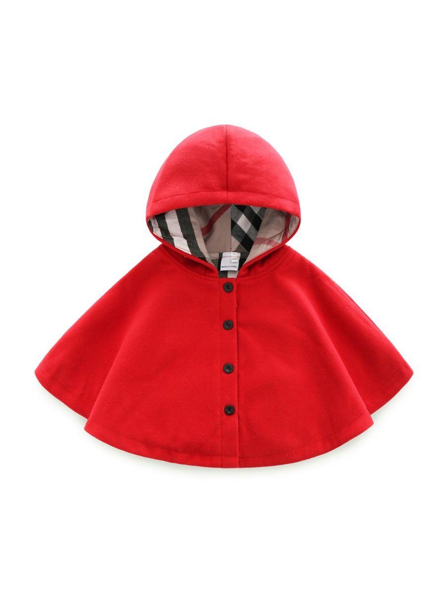 kiskissing Wholesale Baby Toddler Solid Color Hoodie Cloak 2010218