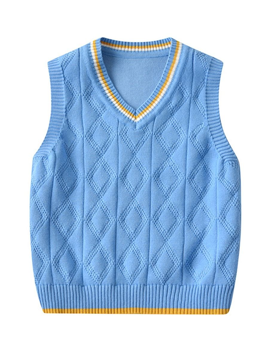 kiskissing wholesale kid solid color sweater vest