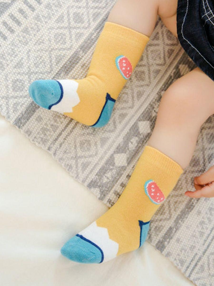 kiskissing wholesale 1-pack baby watermelon graphic socks