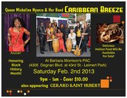 Micheline & Her Band Caribbean Breeze - Sat. Feb 2nd