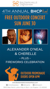 FREE BHCP Live! Concert with Alexander O'Neal & Cherelle, PLUS a Fireworks Show!