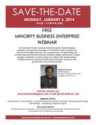 Free Live Minority Business Enterprise Webinar
