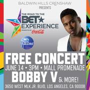 Sat June 14 | FREE CONCERT Bobby V, Mila J, RaVaughn, Dondria @ Baldwin Hills Crenshaw
