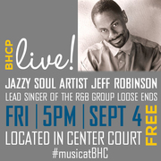 Free BHCP Live! Concert with Jeff Robinson from Loose Ends at Baldwin Hills Crenshaw