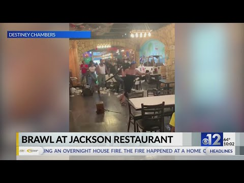 VIDEO: Chairs thrown during Jackson restaurant brawl