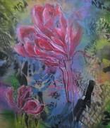 Flower in red 2021 acryl auf Leinwand 110x100