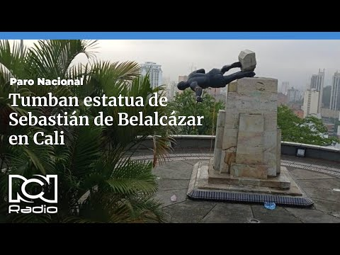 Colombia, Cali: Commies Tear Down Statue of Sebastián de Belalcázar