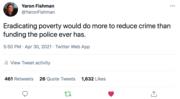 Eradicating poverty...