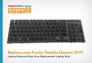 Replace your Faulty Toshiba Qosmio X775 Laptop Keyboard Keys from Replacement Laptop Keys