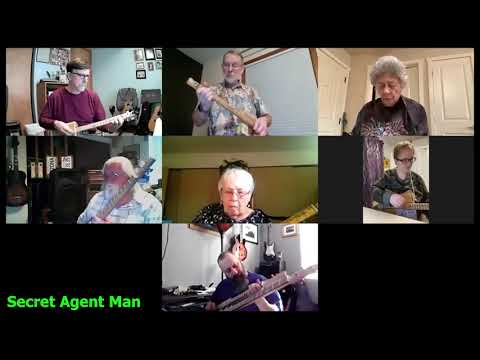 Secret Agent Man: 2-String Chugger Cigar Box Guitar