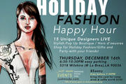 "Just Moda ""Holiday Fashion Happy Hour Pop-up Boutique"" event"