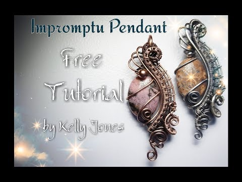 "Wire Wrap ""Impromptu Pendant"" Tutorial."