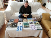Foto con libros