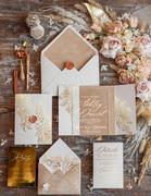 Luxory Acrylic Wedding Invitation Velvet Wedding Invites