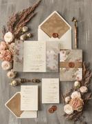 Gold Wedding Invitations Veved Weddig Cards