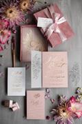 wedding invitation gold vellum velvet box Wedding Invittions
