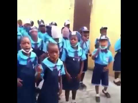 Primary school pupils signs song against s3xual harassmemt