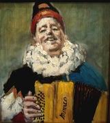 Molon* accordéoniste (huile sur bois)