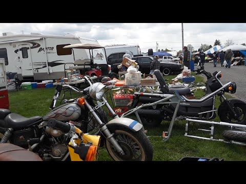 2021 Spring Carlisle Swap Meet Safari Video 6 Oh, So Many Parts and A Few Honda Motorcycles
