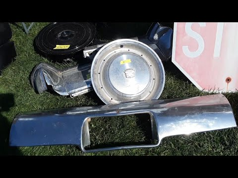 2021 Spring Carlisle Swap Meet Video 7  Finding Old Car Parts and Elvis!