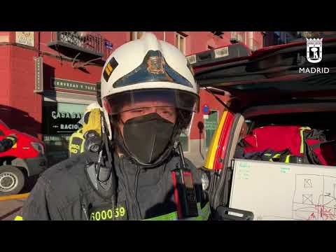Jefe de guardia Bomberos Madrid Incendio calle Atocha 7mayo21