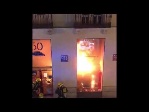 Incendio Librería Proteo Málaga 2021