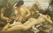 Leonard PERVIZI   140x220cm Naturel d'Europe huile sur toile