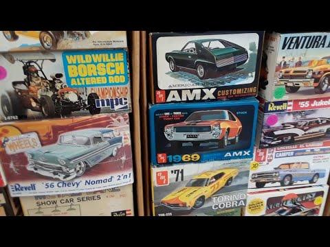 2021 Spring Carlisle Swap Meet Safari Video 8 Vintage Model Kits!!!