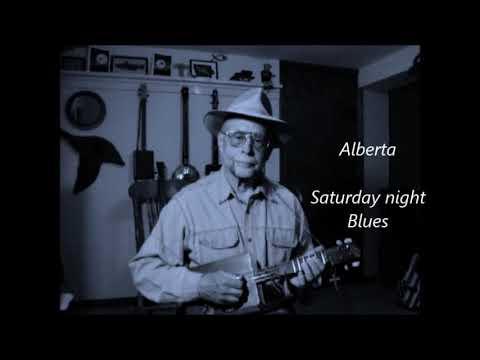 Alberta~ traditional old blues on cigar box mandolin.
