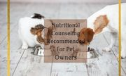 Why is Nutritional Counseling Recommended for Pet Owners?